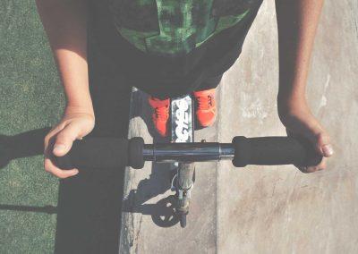 Uporaba kinetičnega vozička pri urah športa
